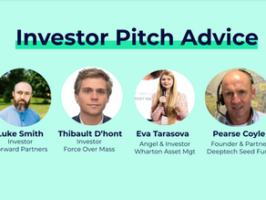 Investor Pitch Clinic: Top 10 tips for pitching from B2B, B2C, Angel & DeepTech Investors