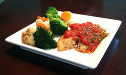 Grilled Corvina with Roasted Pepper
