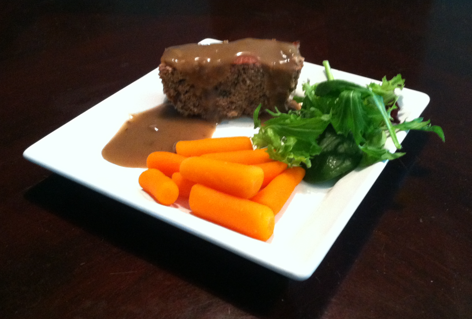 Turkey Meatloaf with Mushroom Gravy