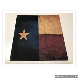 Rustic Texas Flag on Desert Tan