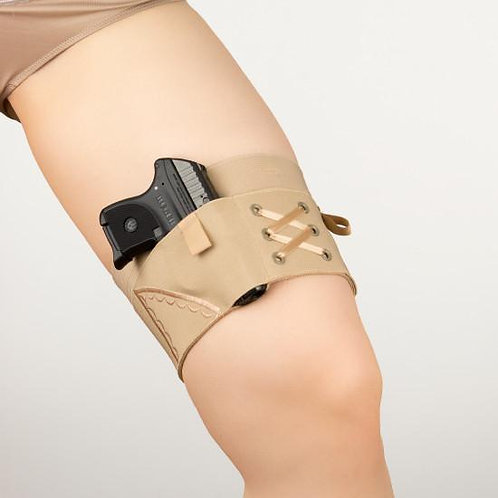 Can Can Concealment Garter - Micro Tan