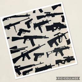 Assorted Guns on Tan