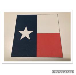 Texas Flag on White