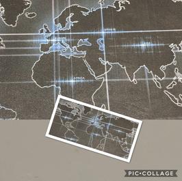 World Map on Gray