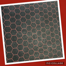 Hexagon Red on Red