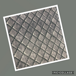 Leather Diamonds on Gray