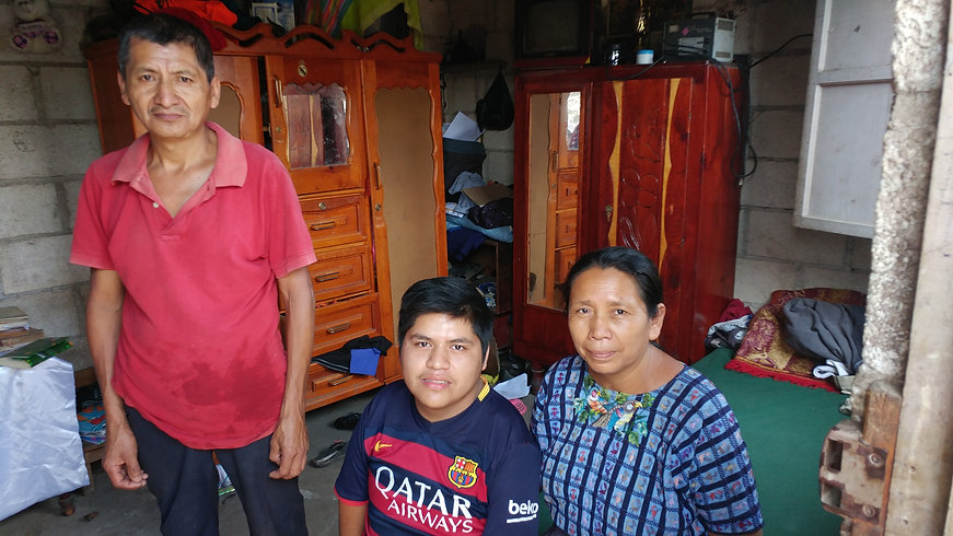 Juanito and his family