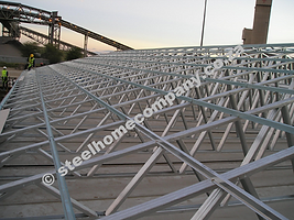 Steel Home Company light weight steel roof trusses