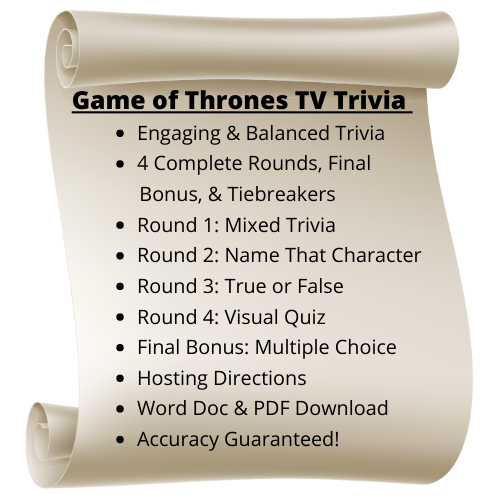 Game of Thrones TV Themed Trivia