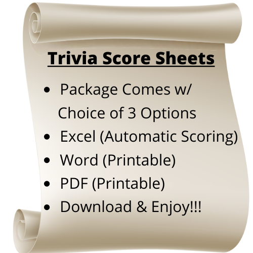 Trivia Score Sheet