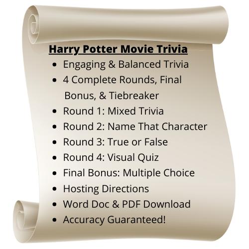 Harry Potter Movie Themed Trivia