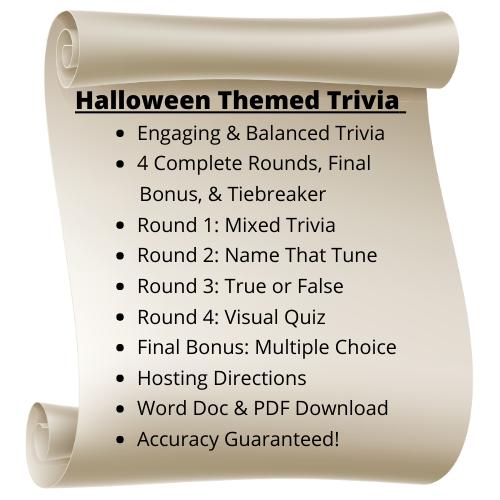 Halloween Themed Trivia