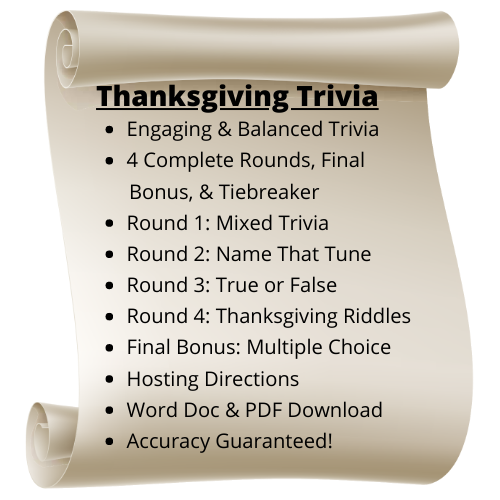 Thanksgiving Themed Trivia