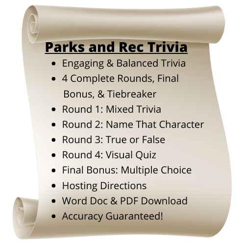 Parks and Rec Themed Trivia