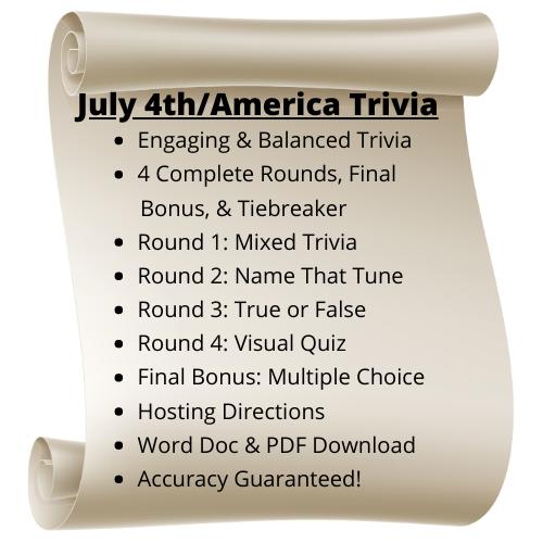 July 4th/America Themed Trivia