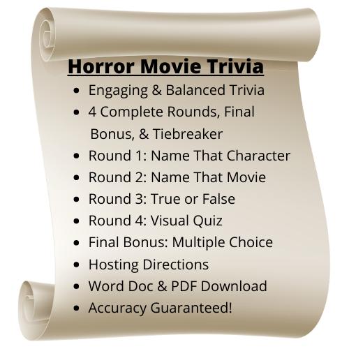 Horror Movie Themed Trivia