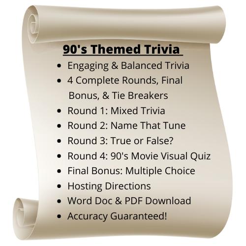 90's Themed Trivia
