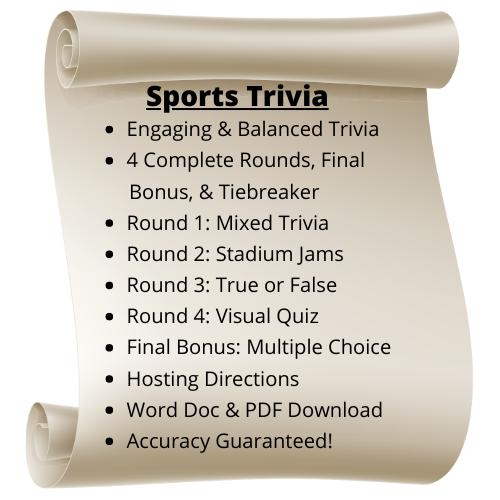 Sports Themed Trivia