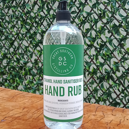 Hand Sanitiser (1 litre pump pack)
