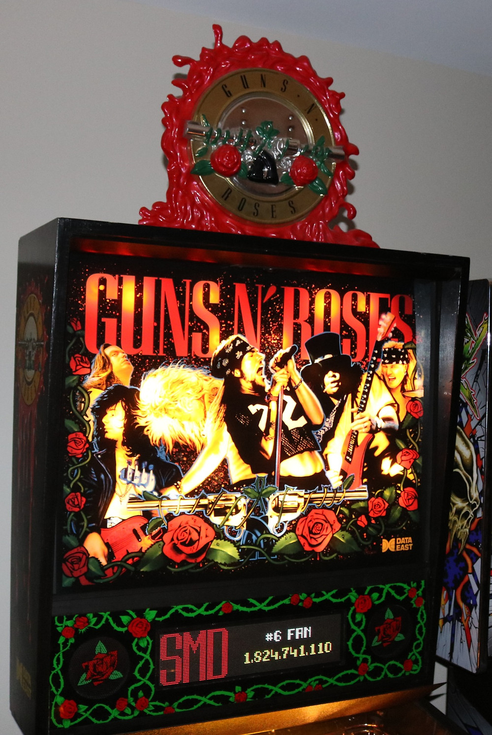 Mirrored Backglass on GNR pinball