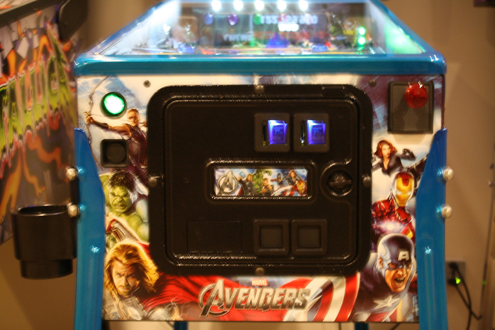 Blue coin slots on Avengers LE pinball