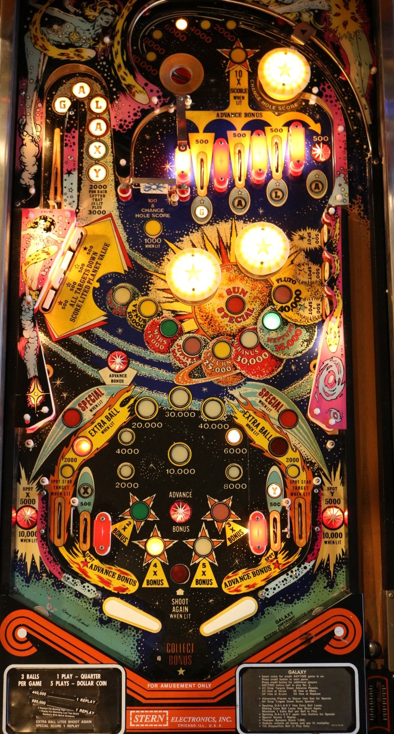 Galaxy Pinball Playfield