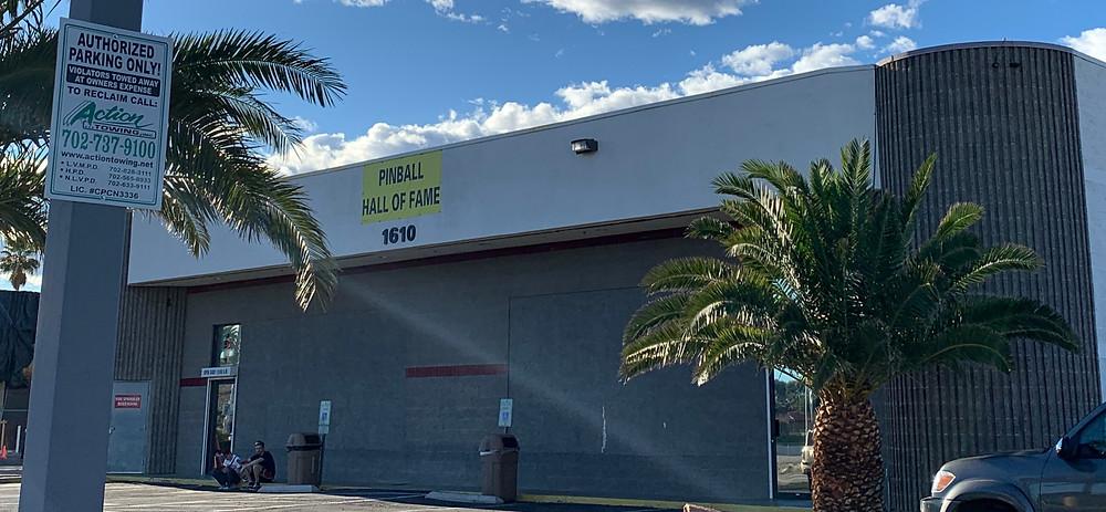 Las Vegas Pinball Hall of Fame building exterior.