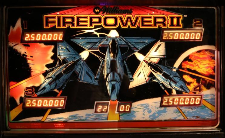 Firepower II Pinball Backglass Image