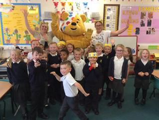 Larch Class Meet Pudsey Bear