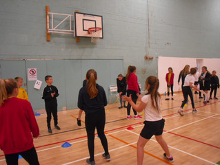 Year 5 at Budmouth Badminton Festival
