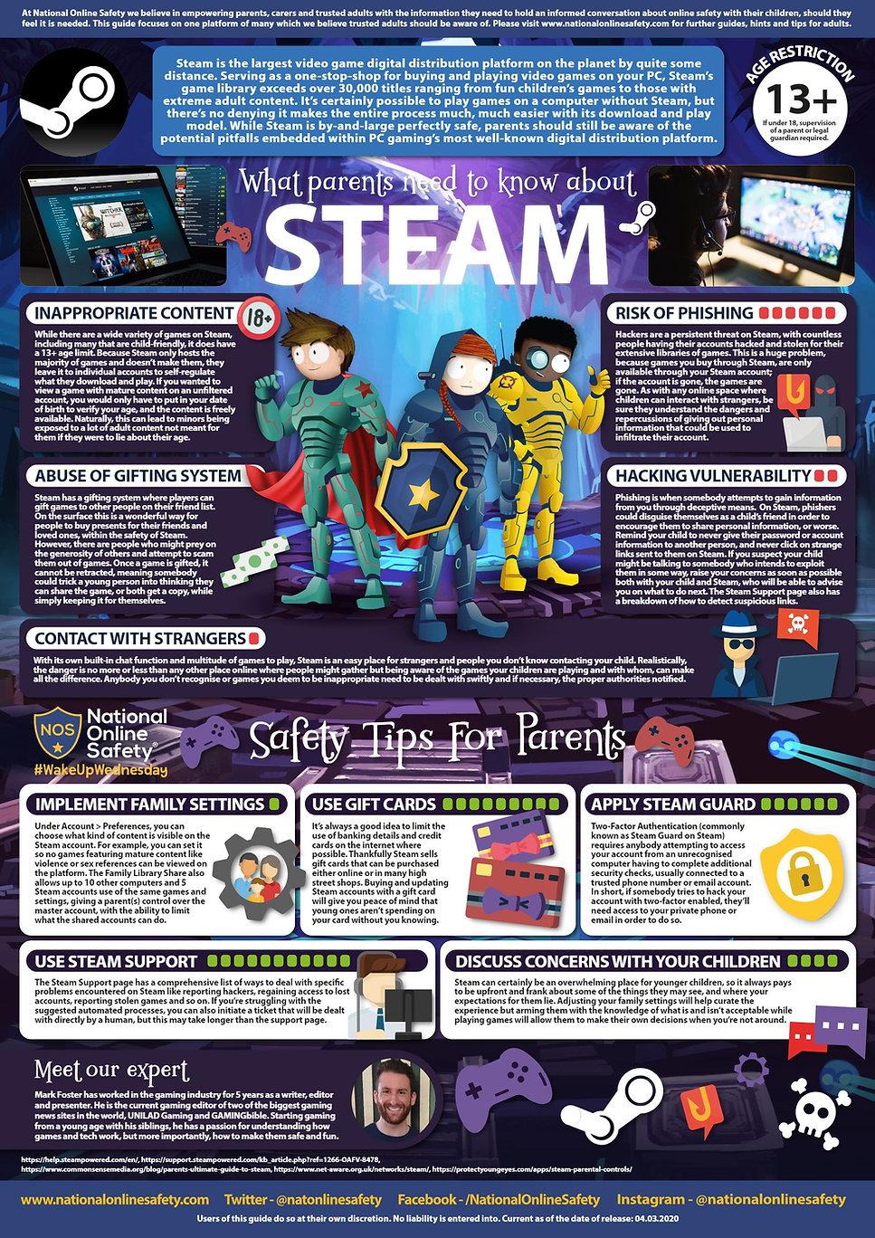 Steam Gaming Platform - Parental Advice-