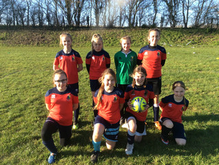 The Girls' Football Team Score Seven Goals!