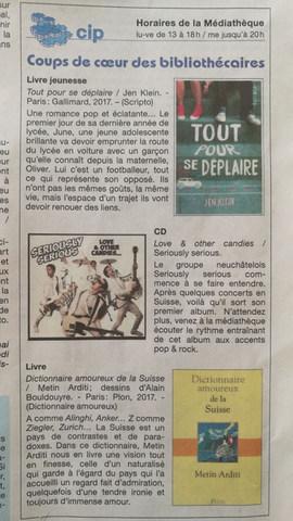 15.05.2017 - La Feuille d'Avis du District de Courtelary