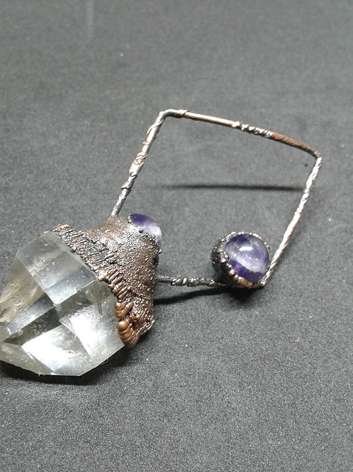 Electroformed Amethyst Quartz