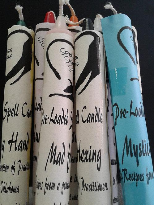 Pre-Loaded Spell Candles - Spell Sister Spells