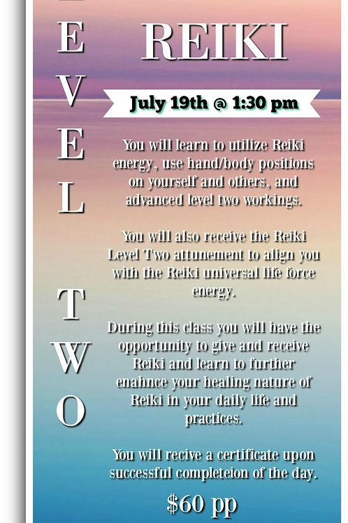 Usui Reiki Level Two Class in 2-Parts