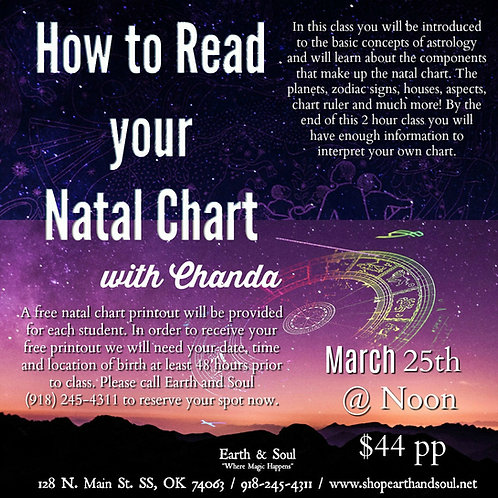 How to Read your Natal Chart with Chanda