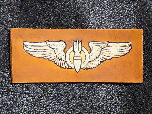 WWII Leather Bombardier Wings