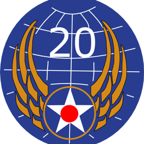 """20th Air Force Leather Patch 3.5"""""""