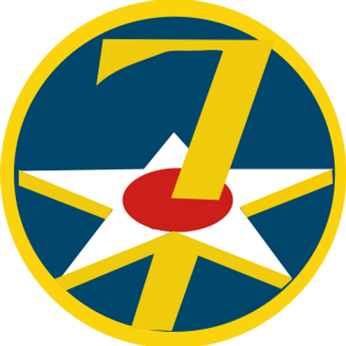 7th Air Force Leather Patch