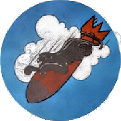 568th Bomb Squadron Leather Patch