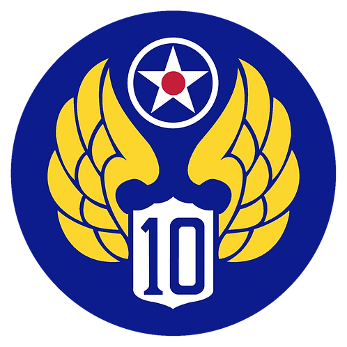 10th Air Force Leather Patch