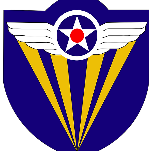 4th Air Force Leather Patch