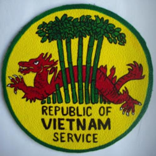 "Vietnam Service Leather Patch 3.5"""