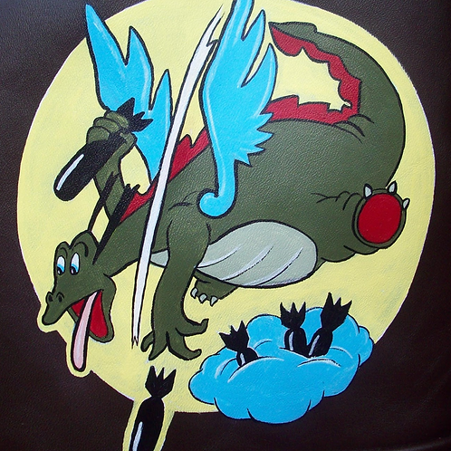 676th Bomb Squadron Leather Patch