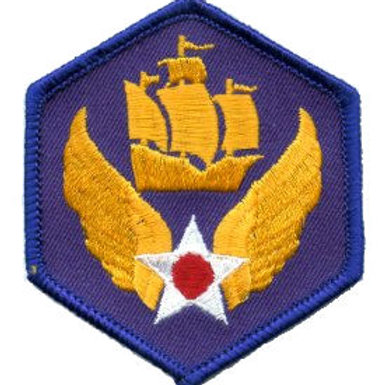 6th Air Force Leather Patch