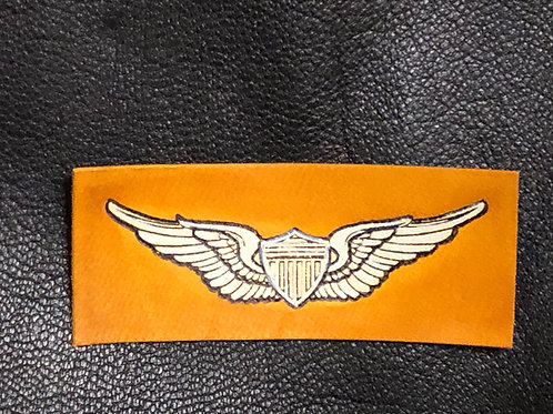 Leather Army Aviator Wings