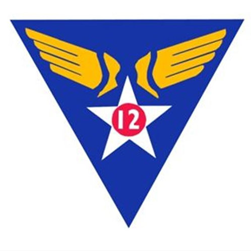 12th Air Force Leather Patch