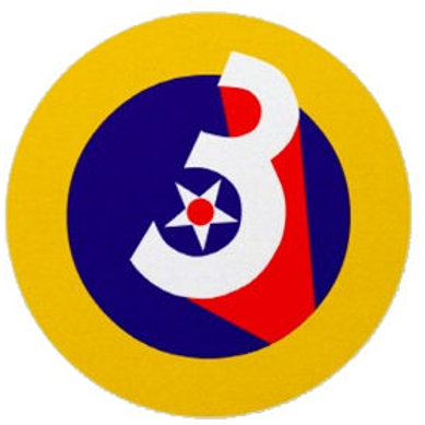 3rd Air Force Leather Patch