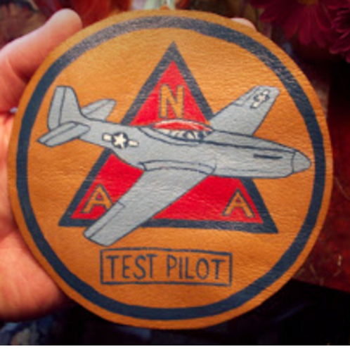 P-51 Test Pilot Leather Patch NAA Leather Patch